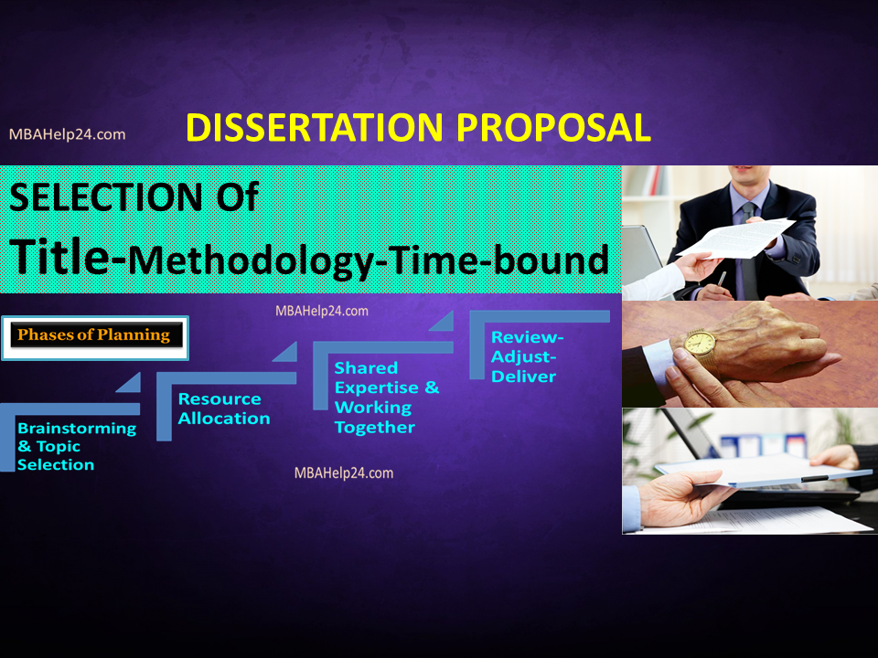 Dissertation proposal logistics