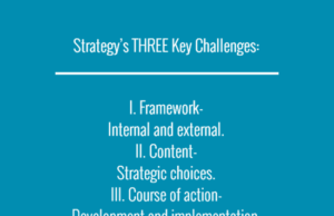 STRATEGY CHALLENGES